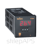 A clock with mechanical setting delayed switch on / delayed switch off, 1 setpoint valuminium framee 72x72mm - XT264-CU